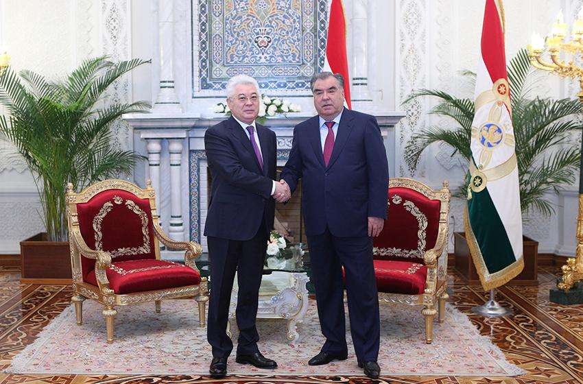 President of Tajikistan Emomali Rahmon Receives Foreign Minister of Kazakhstan Atamkulov