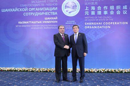 Participation in the meeting of the Council of Heads of State of the Shanghai Cooperation Organization