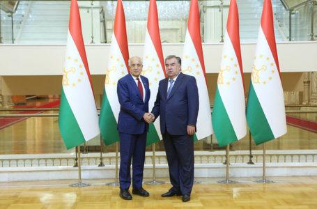 President Emomali Rahmon Receives United States Special Representative for Afghanistan Reconciliation Zalmay Khalilzad