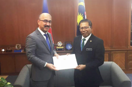 Meeting with the Chief of Protocol Department  of the Ministry of Foreign Affair of Malaysia.
