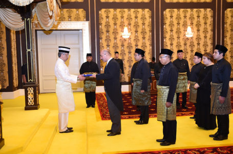 Ambassador of Tajikistan presented his credentials to the King of Malaysia