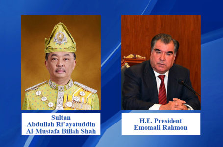 Congratulations letter from the President of the Republic of Tajikistan to the King of Malaysia