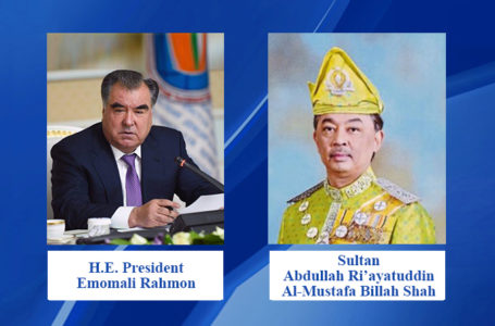 Message of congratulations of His Majesty Sultan of Malaysia to the President of Tajikistan on the occasion of 29th Independence Day of the Republic of Tajikistan