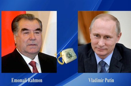 President of Tajikistan Emomali Rahmon Holds Telephone Conversation with the Russian President Vladimir Putin