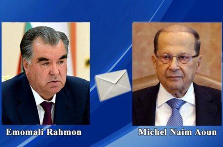 President Emomali Rahmon Expresses Condolences to President of Lebanon over Explosion in Beirut