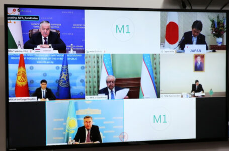 "The Foreign Ministers' Special Videoconference of the ""Central Asia plus Japan"" Dialogue"