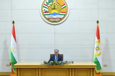 Emomali Rahmon Presides Over Government Meeting