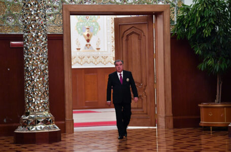 Emomali Rahmon is sworn in as the President of the Republic of Tajikistan