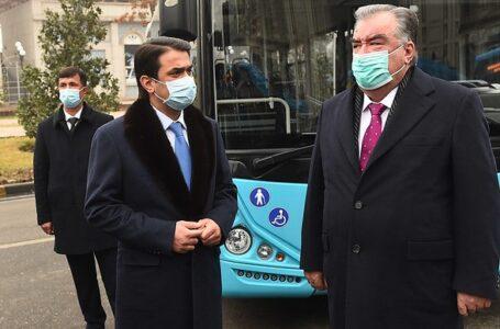President Emomali Rahmon Attends Presentations of Intercity Buses Manufactures by Akia Avesto Tajikistan