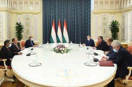 President Emomali Rahmon Receives Pakistani Foreign Minister Shah Mahmood Qureshi