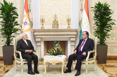 President Emomali Rahmon Receives the Iranian FM Zarif