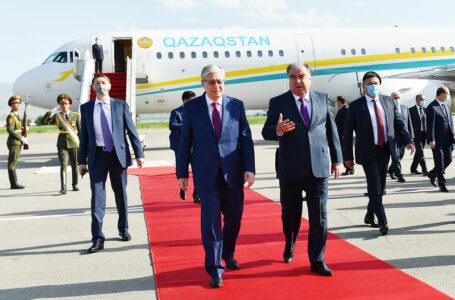 Welcoming of the President of the Republic of Kazakhstan Qosim-Jomart Tokayev in Dushanbe International Airport