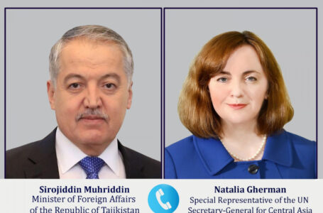 Telephone conversation of the Minister of Foreign Affairs with the Special Representative of the UN Secretary General for Central Asia