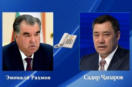 Telephone conversation of the President of Tajikistan with the President of Kyrgyzstan