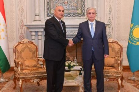 Representatives Assembly Speaker Zokirzoda Meets President of Kazakhstan Tokayev