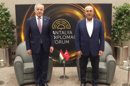 Meeting of the Ministers of Foreign Affairs of Tajikistan and Turkey