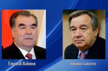 President Emomali Rahmon Sends a Congratulatory Message to the UN Secretary General Guterres
