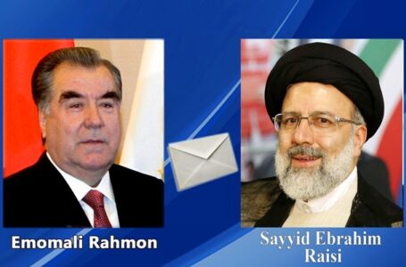 President Emomali Rahmon Congratulates Iran's President-elect Raisi