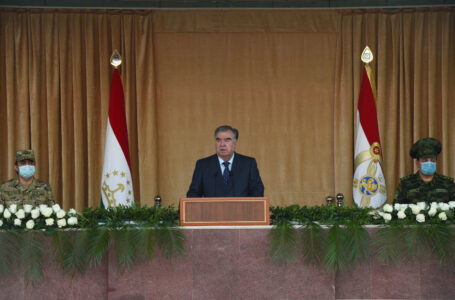 Speech of the Leader of the Nation, President of the Republic of Tajikistan, His Excellency Mr. Emomali Rahmon, before the members of the Armed Forces and law enforcement agencies